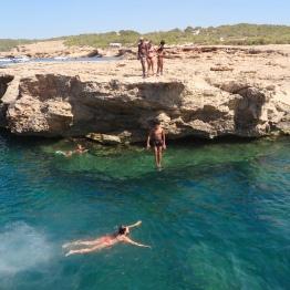 Swimming hole in Ibiza